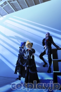 [Imitation Black] Len, Gakupo and Kaito from Vocaloid Cosplay Photo in Japan