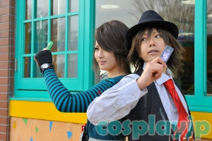 Shotaro and Philip from Kamen Rider W Cosplay Photo in Japan