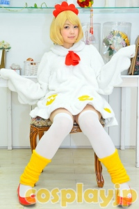 Chicken girl (Personification of chicken) Cosplay Photo in Japan