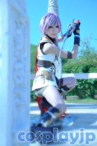 Lightning from FINAL FANTASY XIII Cosplay PHOTO in Japan