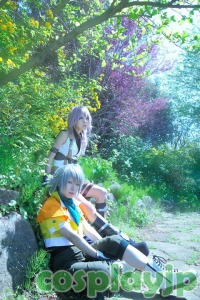 Lightning and Hope from FINAL FANTASY XIII Cosplay PHOTO in Japan